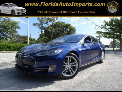 Pre-Owned 2015 Tesla Model S 85D With Navigation & AWD